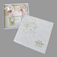 Vintage Baby Hickory Garter with Lace & Pink Roses - Original Box – 1930's