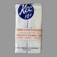 Men's Vintage Kee Handkerchiefs with Wrigley's Chewing Gum Advertising Packaging