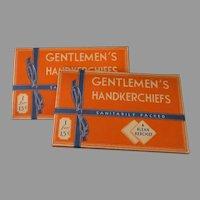 Men's Vintage Handkerchiefs, Gentlemen's Klean Kerchiefs – 2 Original Boxes, One in Each