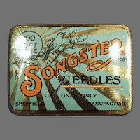 Vintage Songster Soft Tone Phonograph Needle Tin - Partially Empty Tin