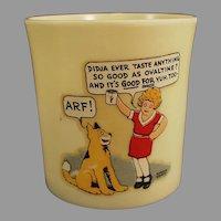 "Vintage Orphan Annie & Sandy ""Didja Ever"" Ovaltine Beetleware Mug"