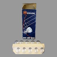 Vintage Hudson 1154 Auto Lamp Bulbs – 10 Bulbs with Original Box
