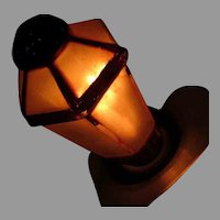Vintage Figural Electric Light Bulb – Old Lantern Shaped Bulb - Works