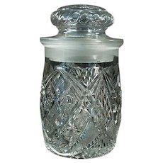 Vintage Soda Fountain Back-Bar Crushed Fruit Jar for Ice Cream Sundae Toppings