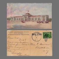 Vintage Advertising Postcard - Watkins Administration Building in Winona Minnesota