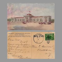 Vintage Advertising Postcard - Watkins Administration Building in Winona Minnesota