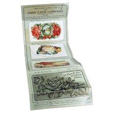 Vintage Ohio Card Company Dealer's Pocket Sample Case