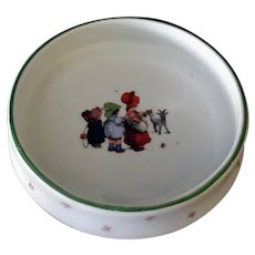 Vintage Feeding Bowl Baby Plate – Children and Billy Goat - Made in Czechoslovakia