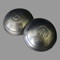Vintage Murray Pedal Car N.O.S. Original Stamped Hubcaps - Pair