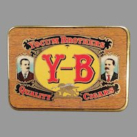 Vintage Yocum Brothers Y-B Quality Cigars Tobacco Tin in Very Nice Condition