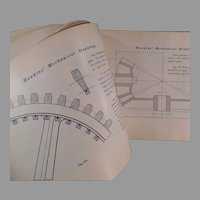 Vintage Self Help Hawkins Mechanical Drawing Book - 1902 Audel Copyright