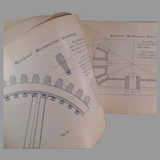 Vintage Self Help Hawkins Mechanical Drawing Book - 1902 Audel Copyright