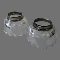 Vintage Holophane Light Shades for a Gas Light Fixture – Pair