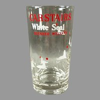 Vintage Carstairs White Seal Whiskey Advertising Highball Glass - Two (2)  Available