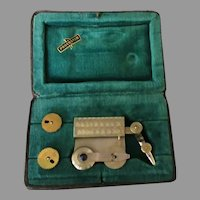 Vintage German Proebster Inking Pen Dotting Attachment for Drafting Tools with Original Case