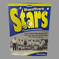Vintage Hometown Stars Cereal Box – Council Bluffs 1995 Baseball State Champions