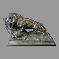 Vintage Lions International Advertising Paperweight – Membership Award 1935-1936