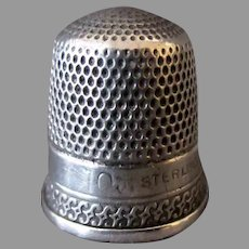 Vintage Sterling Sewing Thimble – Size 10 Goldsmith Stern, Simple Design