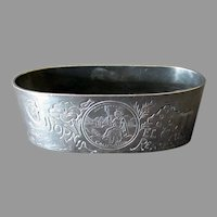 Vintage Souvenir Napkin Ring for the California El Camino Real – Silver Plate