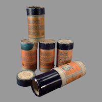 Five Vintage Edison Blue Amberol Phonograph Records - Lot of 5 4M Cylinders