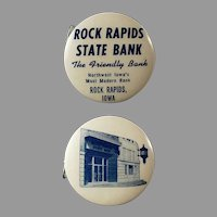 Vintage Celluloid Tape Measure - Iowa Rock Rapids State Bank Advertising