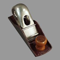 Vintage Stanley Tool No. 110 Block Plane with Original Maroon Japanned Finish