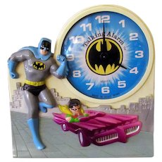 Vintage Batman and Robin Wind Up Talking Alarm Clock – Not Working