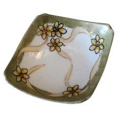 Vintage Nippon Salt Dip - Unusual Form & Fun Floral Design