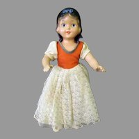 Vintage Composition Doll - Snow White with Original Outfit