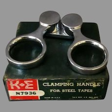 Vintage K & E #N7936 Clamping Handle Steel Tape Puller with Box