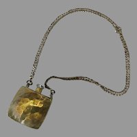 Vintage Brass Chatelaine Accessory Perfume Bottle