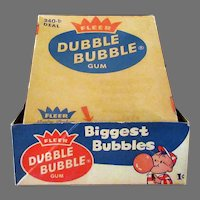 Vintage 1c Penny Fleer Dubble Bubble Box - Old Bubble Gum Box