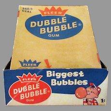 Vintage 1c Penny Fleer Dubble Bubble Box - Old Bubble Gum Box
