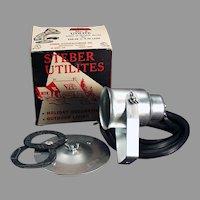 Vintage Steber Indoor/Outdoor Utilite Light Fixture with Original Box - 1950's