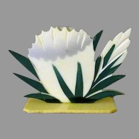 Vintage Celluloid Place Card Holder – Pretty Little Flower