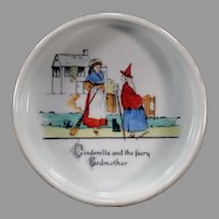 Vintage Czechoslovakian Baby's Feeding Dish with Cinderella