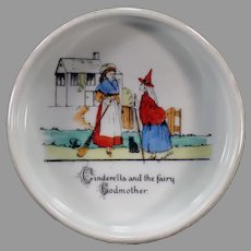Vintage Czechoslovakian Baby's Feeding Dish with Cinderella