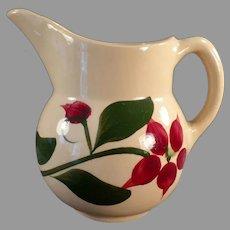 Vintage Watt Pottery Cream Pitcher with #15 Starflower Design
