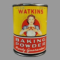 Vintage J.R. Watkins Sample - Little Baking Powder Trial Size Tin