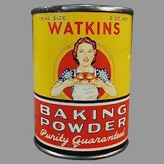 Vintage J.R. Watkins Sample - Little Baking Powder Trial Size Tin