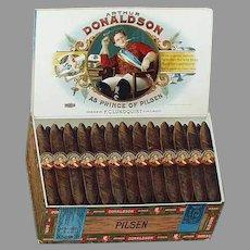 Vintage Cigar Advertising Sign - Arthur Donaldson Pilsen Cigars Cardboard Easel Sign