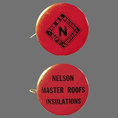 Vintage Celluloid Advertising Tape Measure - B.F. Nelson Master Roofing