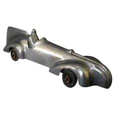 Vintage Cast Aluminum Land Speed Race Car Toy – 1930's