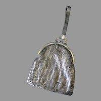 Vintage Slinky Silver Scale Mesh Evening Bag Purse