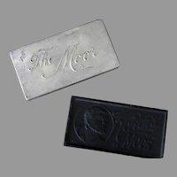 "Vintage Koken's ""The Moor"" Razor Blade Sharpening Stone with Aluminum Tin"