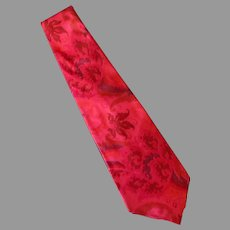 Vintage Red Toned Necktie - Hand Made 100% Thai Silk - Red & More