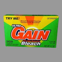 Vintage Gain Detergent Sample Box – 1993 Colorful Advertising Box