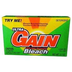 Vintage Gain Detergent Sample Box – 1993 Colorful Advertising Box