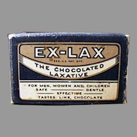 Small Vintage Ex-Lax Laxative Sample Package Box