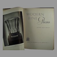 Vintage 1937 Reference Book - Modern Fine Glass by Leloise Davis Skelley